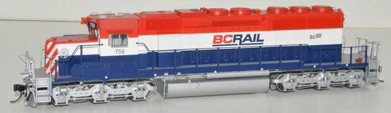 Bowser HO GMD SD40-2 w/ DCC+Sound BC Rail