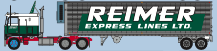 Trainworx N Kenworth K100/40' trailer set Reimer Express Lines